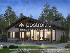 Лучший загородный одноэтажный дом № U-117-1K Gazebo, House Plans, Outdoor Structures, Cabin, Mansions, Architecture, House Styles, Outdoor Decor, Projects