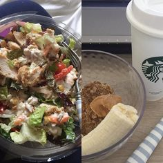 Breakfast&Lunch 🍴👌🏻❤️ B. = 1🍌+ 2 weetabix + 1 tea spoon of peanut butter and a dash of 🍯+ 100ml of milk ❤️❤️❤️❤️ L. = chicken salad ❤️ D. = Ham sandwich with 🍅🍅 Gym 2h session:  Cardio 70 min = 380cals 🔥✔️ Abdomen excercises - 100 ✔️ Converging chest press - 100 ✔️ Hip abduction - 100 ✔️ 10.000 steps ✖️4360 😳 2l water ✖️ 1.5l 😊  Today the gym workout was:  A M A Z I N G ! I don't know what it was with me but I killed it, felt amazing after, had loads of energy and was able to…