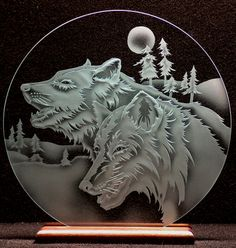 etched glass home decor