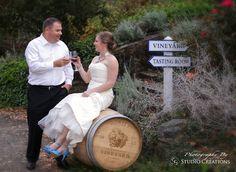Bride and Groom at Vineyard