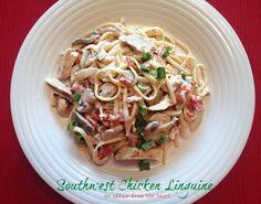 Southwest Chicken Linguine Pasta Dish #chicken #pasta #linguine #southwest