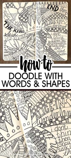 Step by step guide to how to make easy doodles. Tips and ideas for how to doodle. Inspiration for simple and cute pattern design. Word Doodles, Easy Doodles Drawings, Zentangle Drawings, Simple Doodles, Doodles Zentangles, How To Zentangle, Zentangle For Beginners, Easy Zentangle Patterns, Zen Doodle Patterns