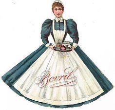 OLD BOVRIL ADVERT CARD NOVELTY STAND UP DIE CUT CHROMO LITHO ANTIQUE C.1880S (04/05/2014)