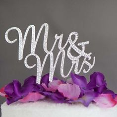 Bridal Mr Mrs Rhinestone Wedding Birthday Party Anniversary Cake Topper BM26 #Unbranded