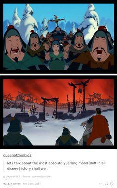 Mulan was the first Disney film to ever openly address warfare. Disney Pixar, Disney Diy, Walt Disney, Disney Jokes, Disney And Dreamworks, Disney Animation, Disney Magic, Funny Disney, Disney Stuff