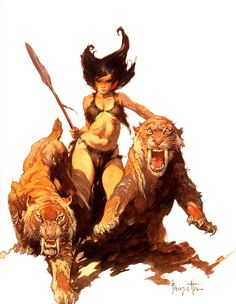 Savage Pellucidar ~ The Cave Girl