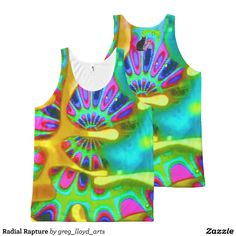 """Radial Rapture All-Over Print Tank Top is the perfect choice.for the psychedelic individual. Wear this Tank Top and you will become truly """"experienced"""". The image is from my Kinetic Collage """"Sweet Dreams"""" light show photo series. Over 3000 products at my Zazzle online store. Open 24/7  World wide! Custom one-of-a-kind items shipped to your door. http://www.zazzle.com/greg_lloyd_arts*?rf=238198296477835081 To see Kinetic Collage checkhttp://www.youtube.com/user/kineticcollage"""
