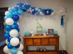Baby Boy's Baby Shower decorated with Blue Balloons #Balloonjumbo #Balloongarland #Blueballoongarland #Blueballoons #Balloons #Babyboy #Babyshower #Boybabyshower #Balloonideas #Bluejumboballoon #Jumboballoon #Baby #Adelaideballoon #Balloonsadelaide #Photoshoot #Bigballooon #Giantballoon #Babyphotoshoot #PuffandPop