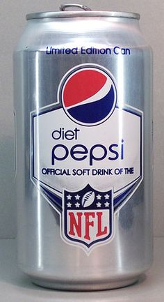 Diet Pepsi NFL Edition. They got it right!