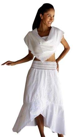 LILA Organic Cotton Embroidered Crochet Waist Asymmetrical Skirt #Handmade #Asymmetrical #casual