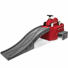 Radio Flyer® Flyer 500 Racetrack.  A racetrack ramp with a cool ride-on car for hours of fun. This looks seriously fun!!  From jcp.com.