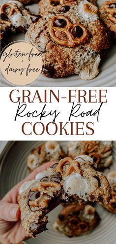Heathy Treats, Healthy Cookies, Yummy Cookies, Rocky Road Cookies, Dairy Free Options, Sweet Recipes, Healthy Recipes, Food Cravings, Grain Free