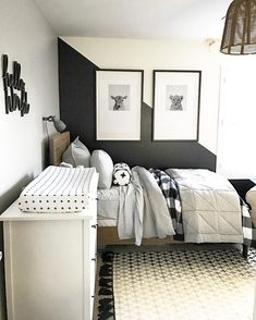 Black and white baby room GOODNESS! So in love with this room design!
