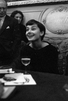 Audrey in Paris, France, March 03, 1955.                                                                                                                                                                                                                                                             Nanette Lepore