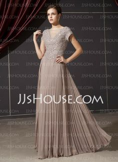Mother of the Bride Dresses - $162.99 - A-Line/Princess V-neck Floor-Length Chiffon Tulle Mother of the Bride Dress With Ruffle Beading Appliques Sequins (008014237) http://jjshouse.com/A-Line-Princess-V-Neck-Floor-Length-Chiffon-Tulle-Mother-Of-The-Bride-Dress-With-Ruffle-Beading-Appliques-Sequins-008014237-g14237