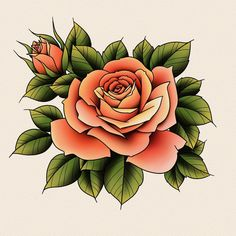 I'll paint this one for real too Music Tattoo Designs, Tattoo Design Drawings, Flower Tattoo Designs, Tattoo Sketches, Flower Tattoos, Traditional Roses, Traditional Tattoo, Japanese Tattoo Art, Japanese Drawings