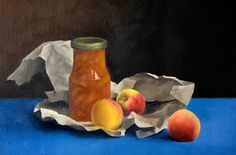 Jam and Peaches: Oil onto Canvas Paiting, Painting, Art, Canvas