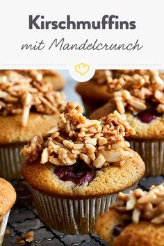 Fruity cherry muffins with a crunchy almond crunch – easy to bite into! Fruity cherry muffins with a crunchy almond crunch – easy to bite into! Keto Cookies, Almond Cookies, Low Calorie Snacks, Keto Snacks, Cheesecake Recipes, Keto Recipes, Cherry Muffins, Cinnamon Cookies, Cinnamon Recipes