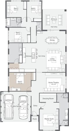 New Home Designs Perth   Explore New House Designs & Prices 4 Bedroom House Designs, 4 Bedroom House Plans, New House Plans, Dream House Plans, Modern House Plans, Duplex Floor Plans, Home Design Floor Plans, House Floor Plans, House Construction Plan