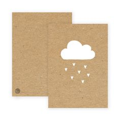 Postkarte Wolke Kraft Paper, Clouds, Stamps, Postcards, Watercolour, Decorating, Birth