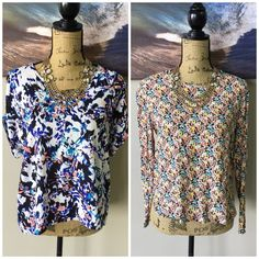 (2pc) LUSH & H&M Top Pre-Made Bundle Just an easy way for you to get more bang for your buck. ask all your questions and then let's get these perfect tops home to you. bundle includes: LUSH Blue Floral (M), H&M Floral (M) Tops