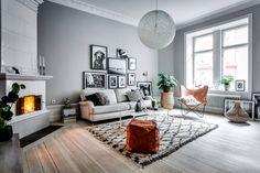 Grey Scandinavian living room