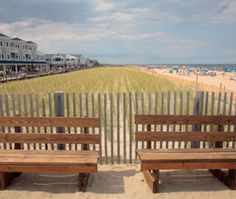 Bethany Beach, DE. Travel and Lesiure magazine named it the Favorite Family Beach.  Quite resorts with 7 mile long beaches. Try a rental home or the Addy Sea or Victorian B.