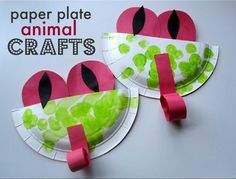 Paper plate frog craft!