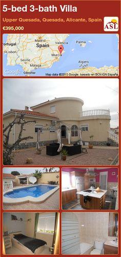 Villa for Sale in Upper Quesada, Quesada, Alicante, Spain with 5 bedrooms, 3 bathrooms - A Spanish Life Alicante, Murcia, Valencia, Spanish, Villa, Bath, Bedroom, Outdoor Decor, Life