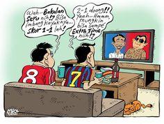 Pertandingan Seru! #KomikJakarta @mice_cartoon