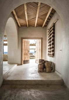 <p>Scorpios Mykonos is the celebration of traditional craftsmanship, organic materials and a bohemian style interior design, presenting a tactile laid-back luxury atmosphere. Central to the 6,000 sqm