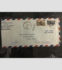 1947 Moscow Russia USSR US Embassy cover USA Diplomatic Mail to Camden Maine 5