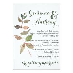 Rustic Barn Natural Green Floral Wedding Card - invitations custom unique diy personalize occasions