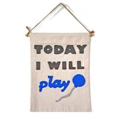 Today I Will Play (blue) from LoveM.co $40.00