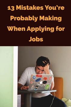 Looking for a new job isn't easy — don't make it harder on yourself by committing these common errors. Interview Techniques, Interview Skills, Career Search, Job Search Tips, Apply Job, How To Apply, Medical Sales, Job Hunting Tips, Healthcare Jobs