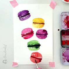 """""""I paint for myself. Also, I have to earn my living, and occupy myself."""" – Francis Bacon By DearAnnArt … Watercolor Beginner, Watercolor Paintings For Beginners, Easy Watercolor, Painting Videos, Painting Lessons, Watercolor Cards, Watercolour Painting, Painting & Drawing, Art Sketches"""