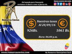 #TasaDeCambio 06:00pm #RomarcaEnvios #EnvioDeDinero #VenezolanosEnElExterior