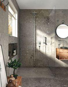 Terrazo Wall Bathroom Ideas - Home of Pondo - Home Design Bathroom Mold Remover, Mold In Bathroom, Bathroom Plans, Brown Bathroom, Laundry In Bathroom, Basement Bathroom, Small Bathroom, Bathroom Ideas, Bathroom Cabinets