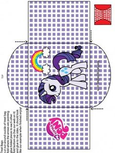 Candy Bag My Little Pony, Favor Box - Free Printable Ideas from Family… My Little Pony Birthday Party, 5th Birthday Party Ideas, Fourth Birthday, My Little Pony Printable, Rainbow Dash Party, Child Sponsorship, My Lil Pony, Little Poney, Paw Patrol Birthday