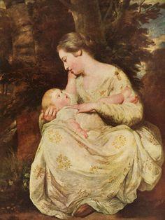 Sir Joshua Reynolds. Mrs. Richard Hoare and Child, 18th Century.