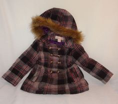 London Fog Toddler Boys Brown Faux Leather Jacket Size 2T 3T 4T