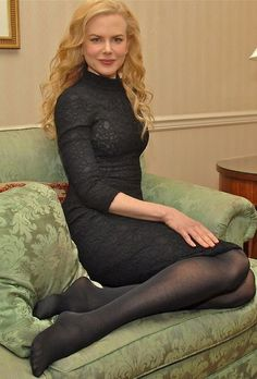 "trautmans-legs: "" Nicole Kidman in a black tight dress and black pantyhose. Pantyhose Outfits, Black Pantyhose, Black Tights, Nylons, Opaque Tights, Beautiful Legs, Beautiful Women, Nicole Kidman Style, Pantyhosed Legs"