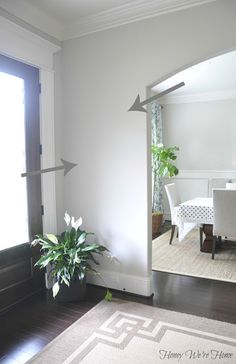 Our wall color!! I love it, so beautiful. SW Agreeable Gray
