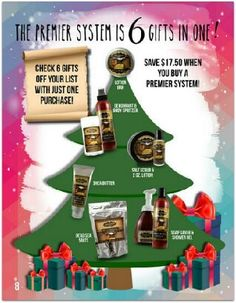 How does checking six names off your Christmas shopping list with just ONE purchase sound?! Amazing, right?!The Premier System is only $99 (for Signature fragrances), that's just $16.50 per person to give them a unique, American-made present...  Give your Consultant a call or simply order online today!!                                               www.myjestore.com/NurseSteph