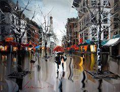 Impressionistische Gemälde von Kal Gajoum