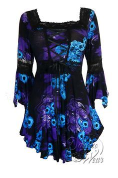 Gothic and Victorian Renaissance plus size corset top in Purple Potion
