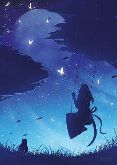 Moon Swing by Erisiar