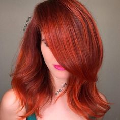 """Fall is in the air 🍁🍂 using base color @SchwarzkopfUSA Igora 6-77 7-77 & highlighting using Fashion Lights L-77 L-88"""
