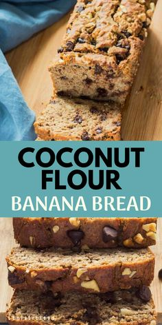 Low Unwanted Fat Cooking For Weightloss This Amazing Coconut Flour Banana Bread Recipe Is Gluten Free And Only Sweetened With Bananas No Added Sugar. This Banana Loaf Can Also Be Made Paleo And Tree Nut Free. Coconut Flour Banana Bread, Protein Banana Bread, Sugar Free Banana Bread, Coconut Flour Recipes, Healthy Banana Bread, Milk Recipes, Free Recipes, Nut Bread Recipe, Easy Bread Recipes