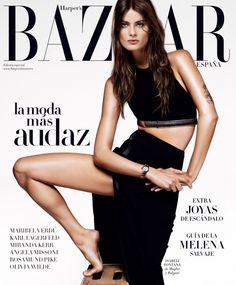 """""""Red and Black"""" Isabeli Fontana by Alique for Harper's Bazaar Spain April 2015"""